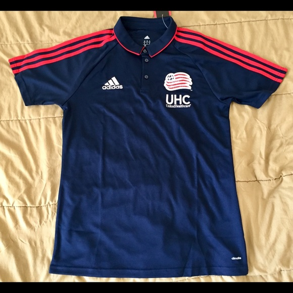 54b113fb2 New Adidas New England Revolution MLS Polo Jersey